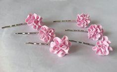 Wedding Flower Hair Accessories Pink Carnations by tashascreation,