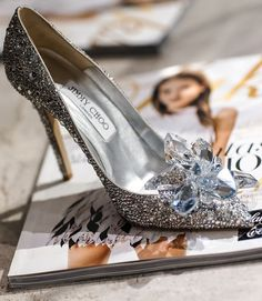 The official Swarovski encrusted glass slipper for Cinderella.