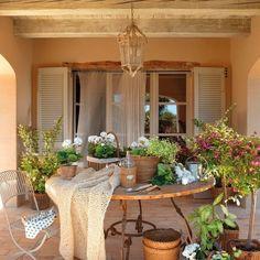 Instagram Outdoor Rooms, Outdoor Living, Outdoor Decor, Small Studio Apartment Design, Farmhouse Remodel, Patio Plants, House Built, Garden Pool, Garden Table
