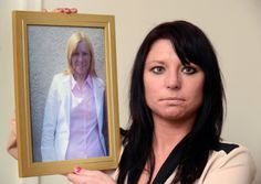 Tina Kent with a photograph of her late mother Pauline.