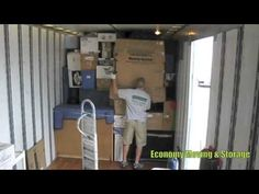 How to properly pack and load a moving truck- Movers Cincinnati - YouTube