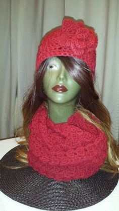 Hat and infinity scarf.