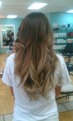 Ombre carmel to light blonde