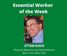 Essential Worker of the Week: Today, I'd like to acknowledge Eytan Koch, a physical medicine and rehabilitation resident from New York, New York. We are grateful for you. Thank you for your service! Unsung Heroes by Benita Charles is an inspirational, heartfelt song full of positive vibes. The uplifting message of hope is a tribute to all the essential/frontline workers who are making a difference for the nation during the Covid-19 pandemic. We are grateful for their service!