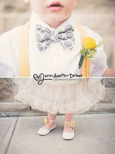 Jenn Austin-Driver Photography - Wedding - Details - Flowergirl - Ringbearer - Yellow & Grey