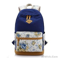 Wow~ Awesome Fresh Mixed Colors Floral Pattern Trunk School Bag Travel Computer Backpack! It only $40.99 at www.AtWish.com! I like it so much<3<3!