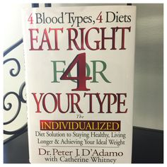 This is an amazing book explaining why you should or should not eat certain things because of your blood type. You will be surprised!!! Things you don't like or have never liked may not be good for you. Get healthy, rid yourself of inflammation just a few things that this book will help you with $27 @ Tree of Life Supplements, Gifts & More   #gethealthy treeoflifesgm@yahoo.com