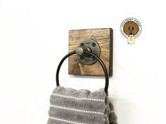 RUSTIC DISTRESSED Towel Ring Towel Holder Hand Towel Ring | Etsy Towel Rack Bathroom, Towel Hooks, Kitchen Towels, Bathroom Wall, Paris Bathroom, Brown Bathroom, Modern Bathroom, Bathroom Ideas, Rustic Towel Rings