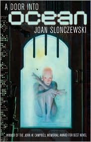 A Door into Ocean by Joan Slonczewski. Science fiction with feminist, non-violence, & ecology themes.