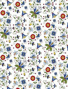 Polish Gift Wrapping Paper - White Kaszub. Kaszubski papier do prezentow.