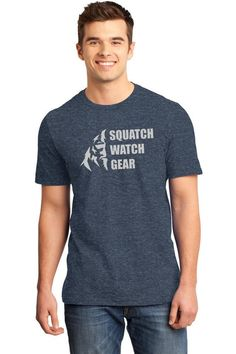 Classic Logo Tee - Perfect for the sasquatch lover in your life! This tee features our large stylized bigfoot logo on a super soft 50/50 ring spun combed cotton/poly blend shirt. Colors available are Heathered Navy and Heathered Kelly Green. - Available from $16.99