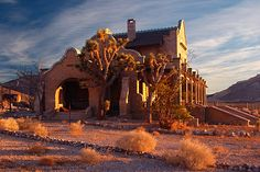 Abandoned railway station at Rhyolite, Nevada – just west of Beatty. This was once a mining town with a population of over 5000 people.