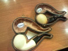 Two IMP Meerschaum Pipes