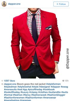 I love this look. I need a red blazer!