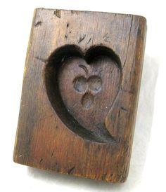 Antique 1925 Heart Cherries Sugar Mold AAFA Treenware Folk Art Primitive   eBay