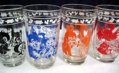 Kraft Swanky Swigs Juice Glasses - I have the orange and brown. Need the other colors.