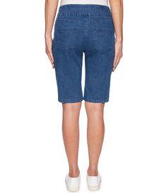 Stretch Denim Pull-On Bermuda Shorts Bermuda Shorts Women, Black Leggings Style, Leggings Fashion, Stretch Denim, Dillards, Stretches, Polyester Spandex, Latest Trends, Cotton