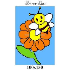 Looking for your next project? You're going to love FLOWER BEE crochet graph pattern by designer CrochetInfinity.