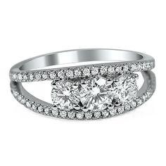Split Shank Three Diamond Ring #BrilliantEarth
