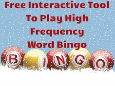 Free interactive tool to play sight word bingo! This is a great tool to use on the smart board for a quick sight word review or to play the bingo! Check it out for yourself!