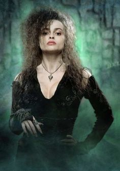 She's always effective on that teased,kinky curly long hair, witch's nails, and black/red wardrobe.  The wife of one-of-a-kind director Tim Burton, HELENA BONHAM CARTER.