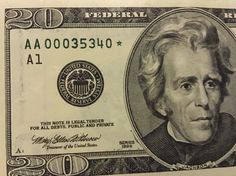 20 Dollar 1996 Replacement Star note TRIPLE000 Low Serial Numbers. (AA00035340)