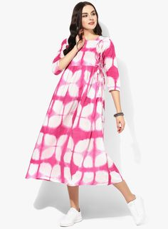 Buy Sangria Pink Sleeves Angrakha Style Kurti online in India at best price.  Breathe some life into your ethnic collection and looking like an absolute  ...