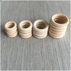 Unfinished Wooden Teething Rings: 20 mm - 75 mm