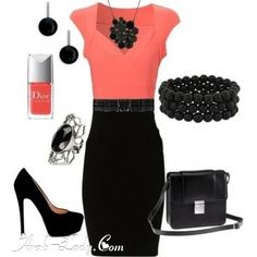 With a pearl necklace, this would be a great work outfit for any day.