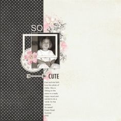 So Sweet. Layout by KarenB using Miss Millie digital scrapbooking kit by Lynne Grieveson Designs at The Lilypad
