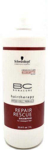 Schwarzkopf BC Bonacure Repair Rescue Shampoo 33.8 oz (1 Liter) * Visit the image link more details.