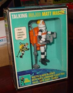 Major Matt Mason - another classic toy. Only problem was when the wires inside broke.