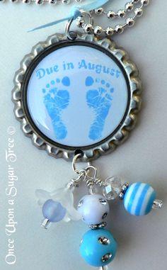 Pregnancy Due Date Bottle Cap Bottlecap Necklace