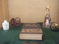 a home altar #Catholic