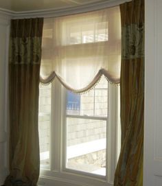 Silk drapes with a floral panel Silk Drapes, Drapes Curtains, Drapery, Patio Door Drapes, Custom Drapes, House Windows, Fabric Swatches, Great Rooms, Window Treatments