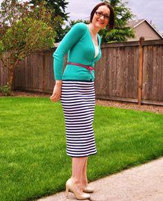Suburbs Mama: Knit Pencil Skirt