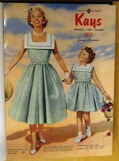 VINTAGE MAGAZINES - KAYS 1957 50s Dresses, Vintage Dresses, Girls Dresses, Vintage Mom, Moda Vintage, Kays Catalogue, 1950s Fashion, Vintage Fashion, Fashion 2017