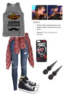 """""""Untitled #222"""" by jigglypuff-irwin ❤ liked on Polyvore featuring H&M, R13, Converse and Sykes"""