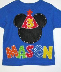 Mickey Mouse shirt, birthday boy, toddler tshirt.. $25.00, via Etsy.