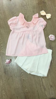 Beautiful Frill collar top with ruffle shorts now from £45.49