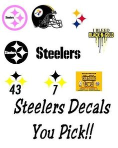 Pittsburgh Steelers~Steelers decals Steelers Gear 713375056