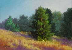 Romantic Landscapes in Soft Pastels and Oils