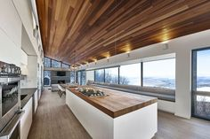 "curtis designed this modern ski chalet located in Lac Archambault, Quebec, Canada. It was completed in February ""This modern ski chalet was designed as a weeke… Ski Chalet, Alpine Chalet, Chalet Design, House Design, Loft Design, Interior Design Magazine, Chalet Modern, Chalet Interior, Bay Window"