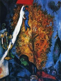 Marc Chagall, The Tree of Life on ArtStack #marc-chagall #art