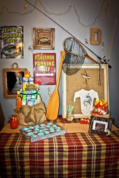 Fishing Themed Baby shower;)! Great for the mom who wants something a little different for her shower! Did you catch the image in the mirror?;)