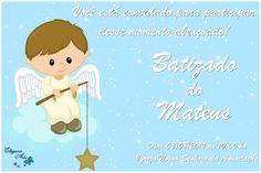 Convite Digital BATIZADO menino (mod- 2)   Ellegance Arts   Elo7