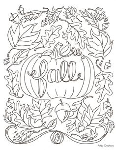 Coloring Book And Pages Hi Everyone Today Im Sharing With You My First Free Page Fall For Kids Printablefall To Print 47