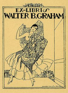 Bookplate by Ismael Smith for Walter B. Graham : Pratt Institute Libraries, Special Collections 166a (sc00100)