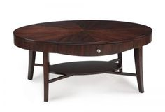 "Oval Cocktail Table 46x24x19"" Magnussen, Aster Collection Model # T1408-47"
