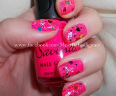So cute pink with hearts...